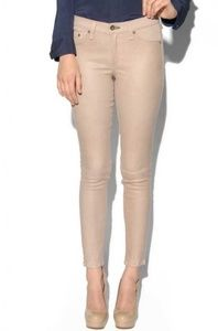 Rag & Bone The Hyde Leather Front Pant Nude